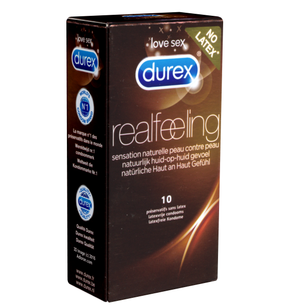 Durex - Kondomgröße 56 - 10 Kondome, latexfrei | Kondome