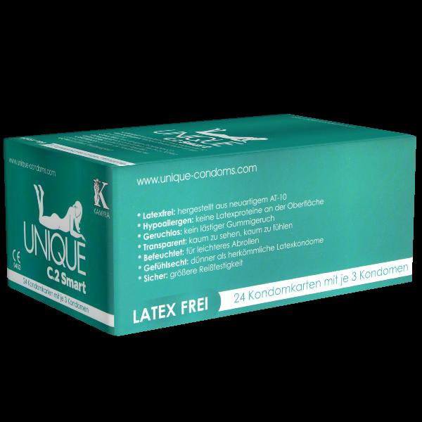 KAMYRA – Kondomgröße 60 – 72 Kondome, latexfrei, Pre-erection