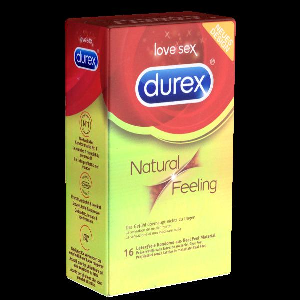 Durex – Kondomgröße 56 – 16 Kondome, latexfrei